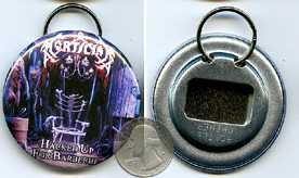 Hacked Up For Barbecue 2.25 Bottle Cap Opener Keychain