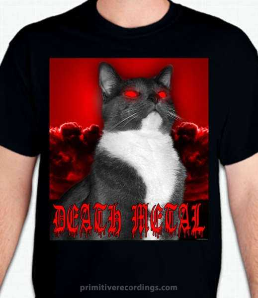death metal cat design primitive recordings. Black Bedroom Furniture Sets. Home Design Ideas